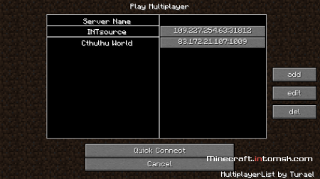 [1.6.6] MultiplayerList [Gui]