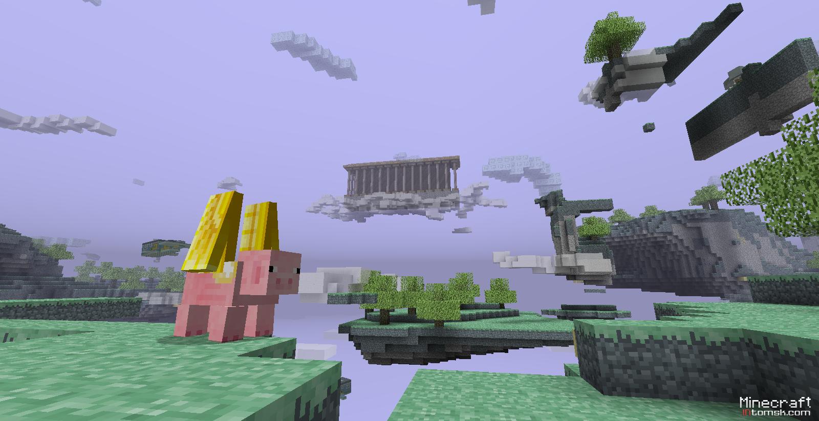Мод на рай, портал в рай для Minecraft 1.7.10/1.7.2/1.6.4 ...