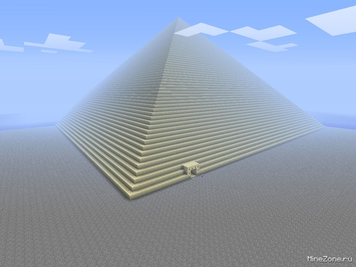 майнкрафт карта пирамида играть в