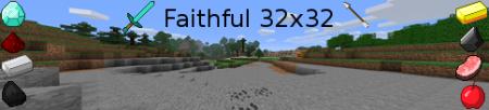 [32x][1.8.1+1.9pre] Faithful Pack + Красивый русский шрифт