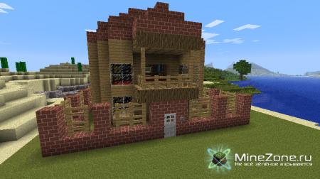 Скромный домик minecraft