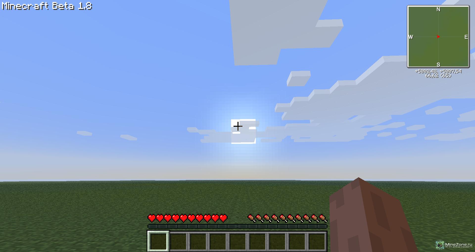 Скачать ровную песочную карту в minecraft - d042