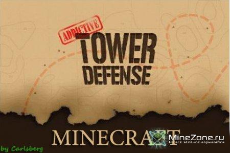 Обзор карты в стиле Tower Defense в Minecraft