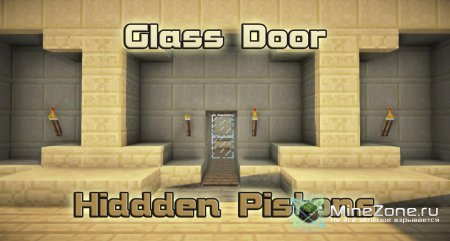 [minecraft-pg5] Glass Door - hidden pistons