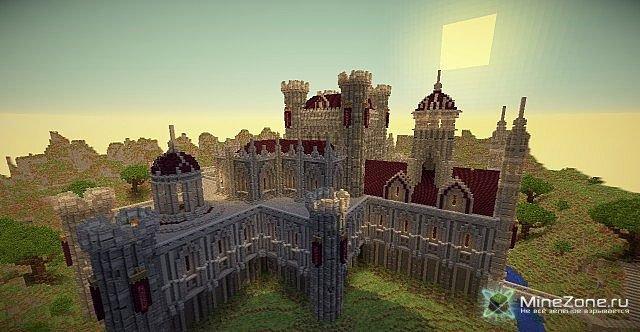 майнкрафт карта большого рыцаря и замком #9