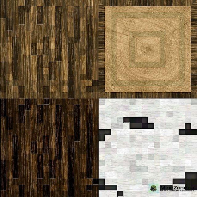 текстуры с круглым деревом для майнкрафт #3