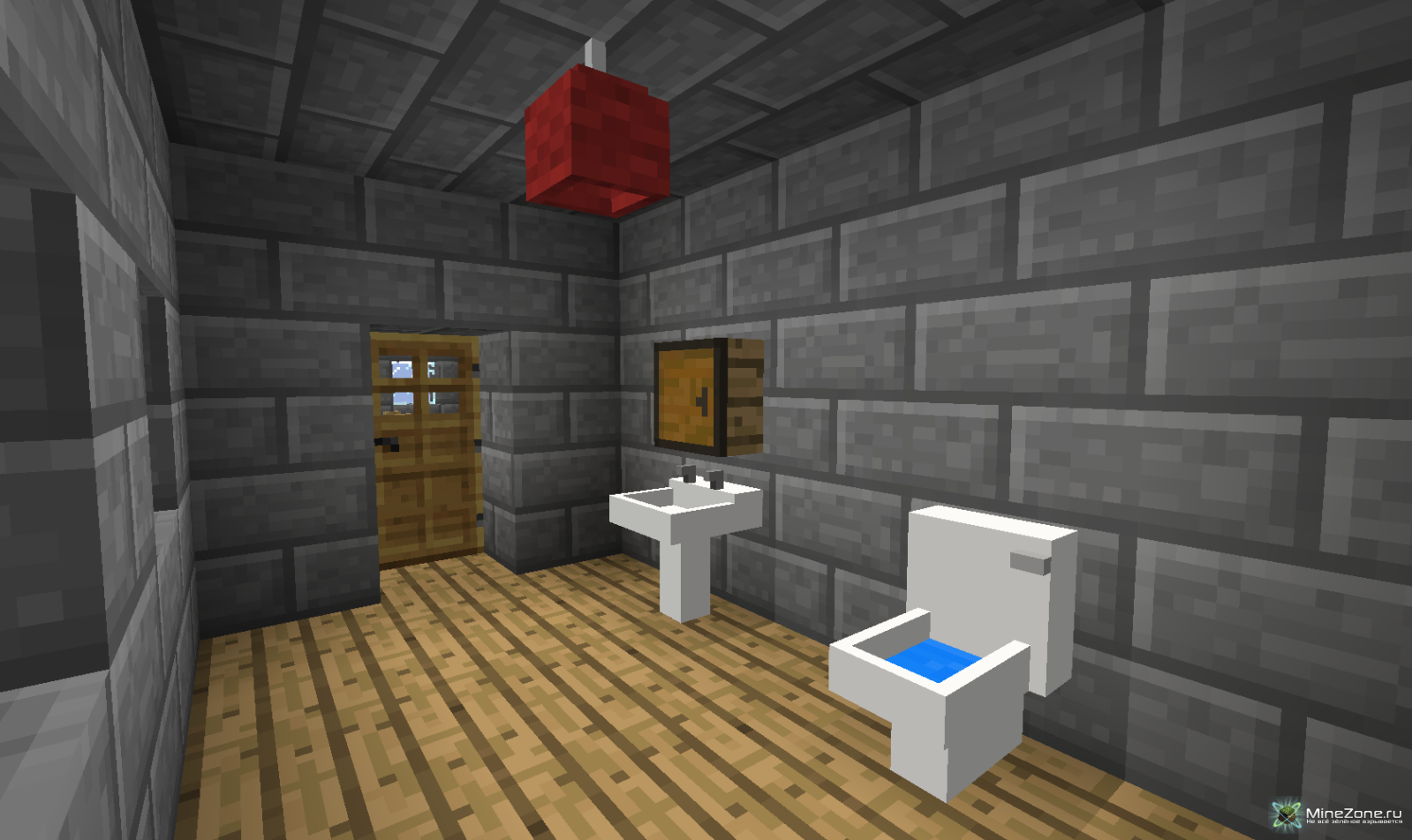 моды майнкрафт на домашние вещи как душ ванна забор #4