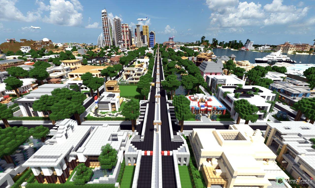 майнкрафт карты город