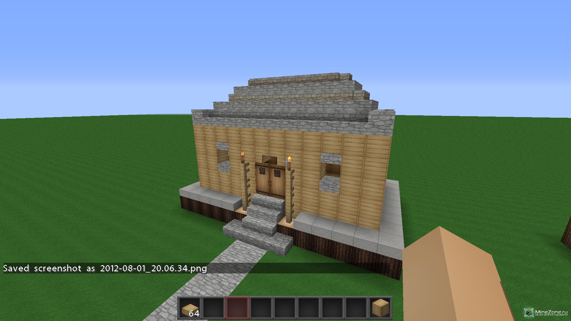 Как в minecraft сделать крышу