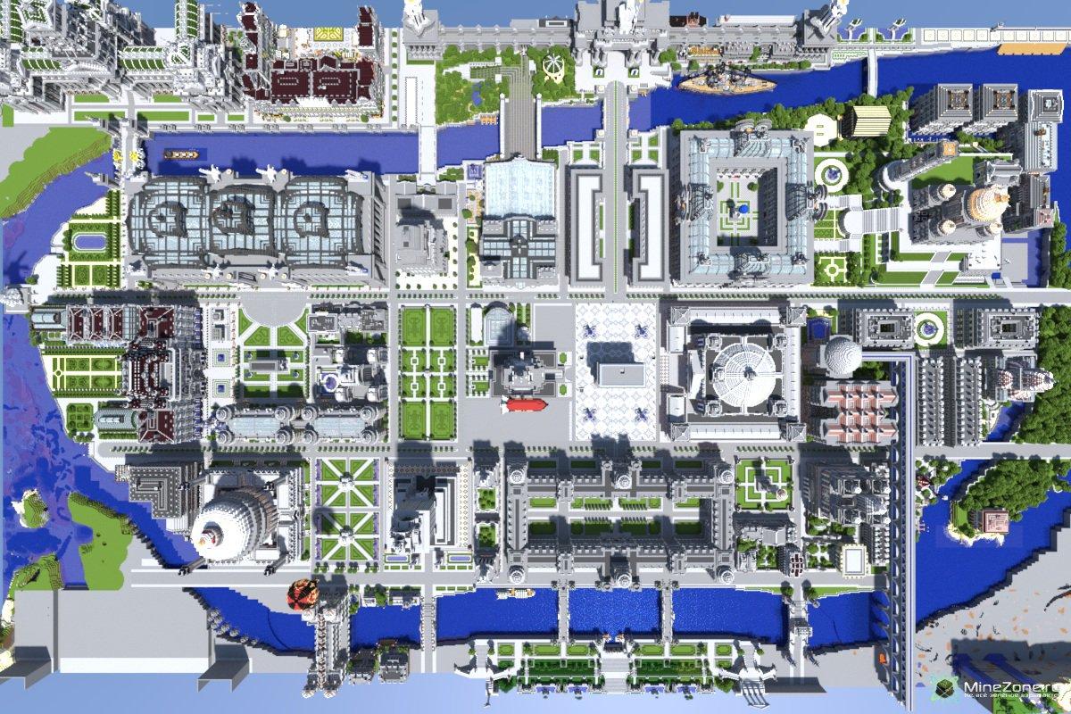 схемы города в майнкрафт