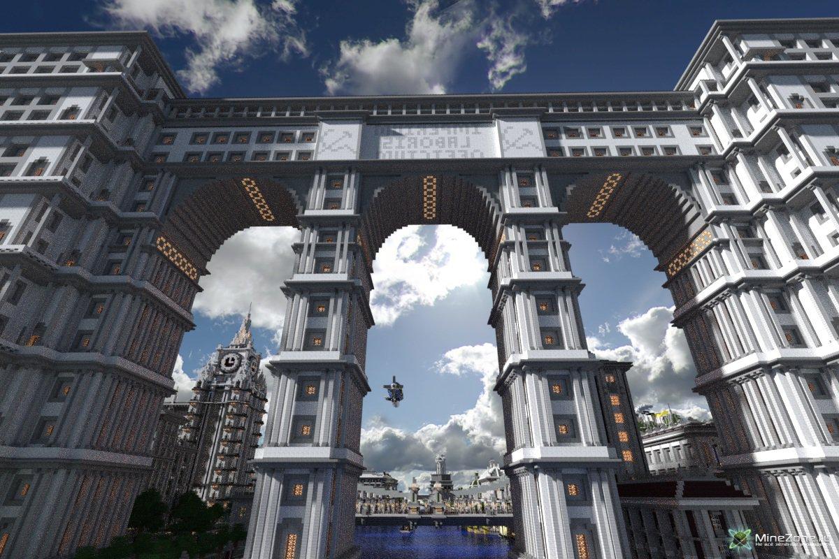 Скачать карту имперский город для майнкрафт pe