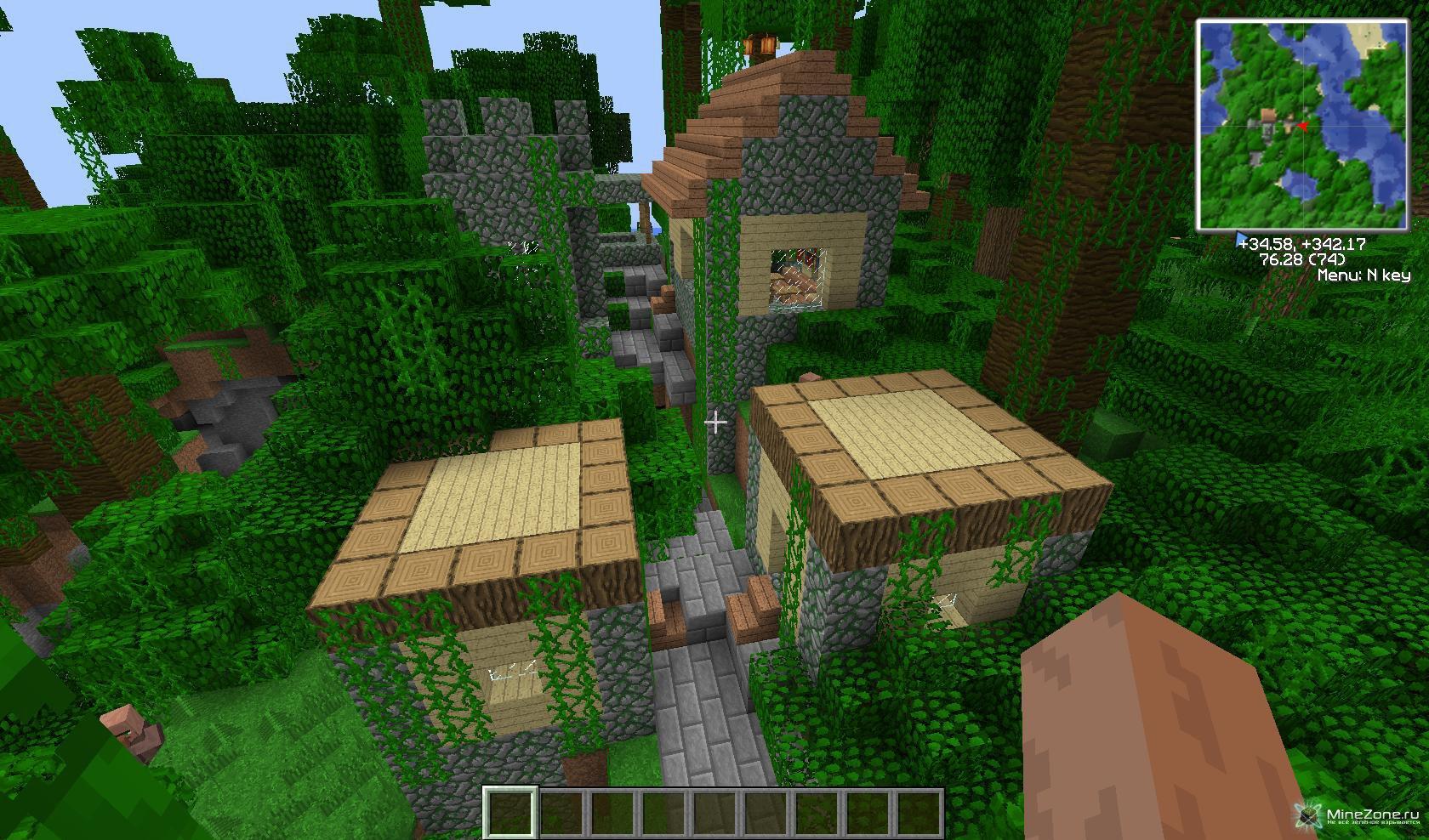 играть майнкрафт бесплатно и чтобы там было море и деревья и поле чтобы там построить дом