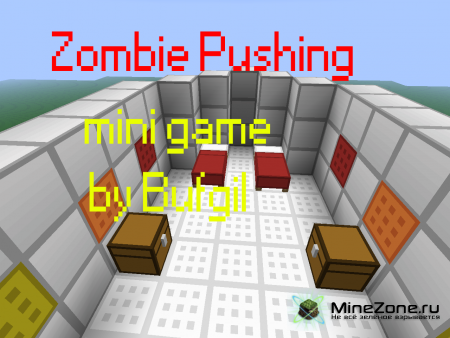 Zombie Pushing-mini game in minecraft