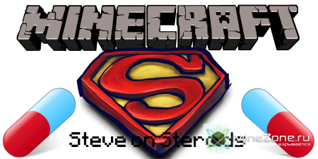 [1.3.2] SUPER PILLS MOD v4.0! (STEVE ON STEROIDS, SUPER HUMAN POWERS!)