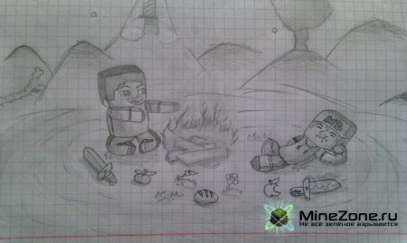 Рисунки на тему MineCraft by Kivvi159