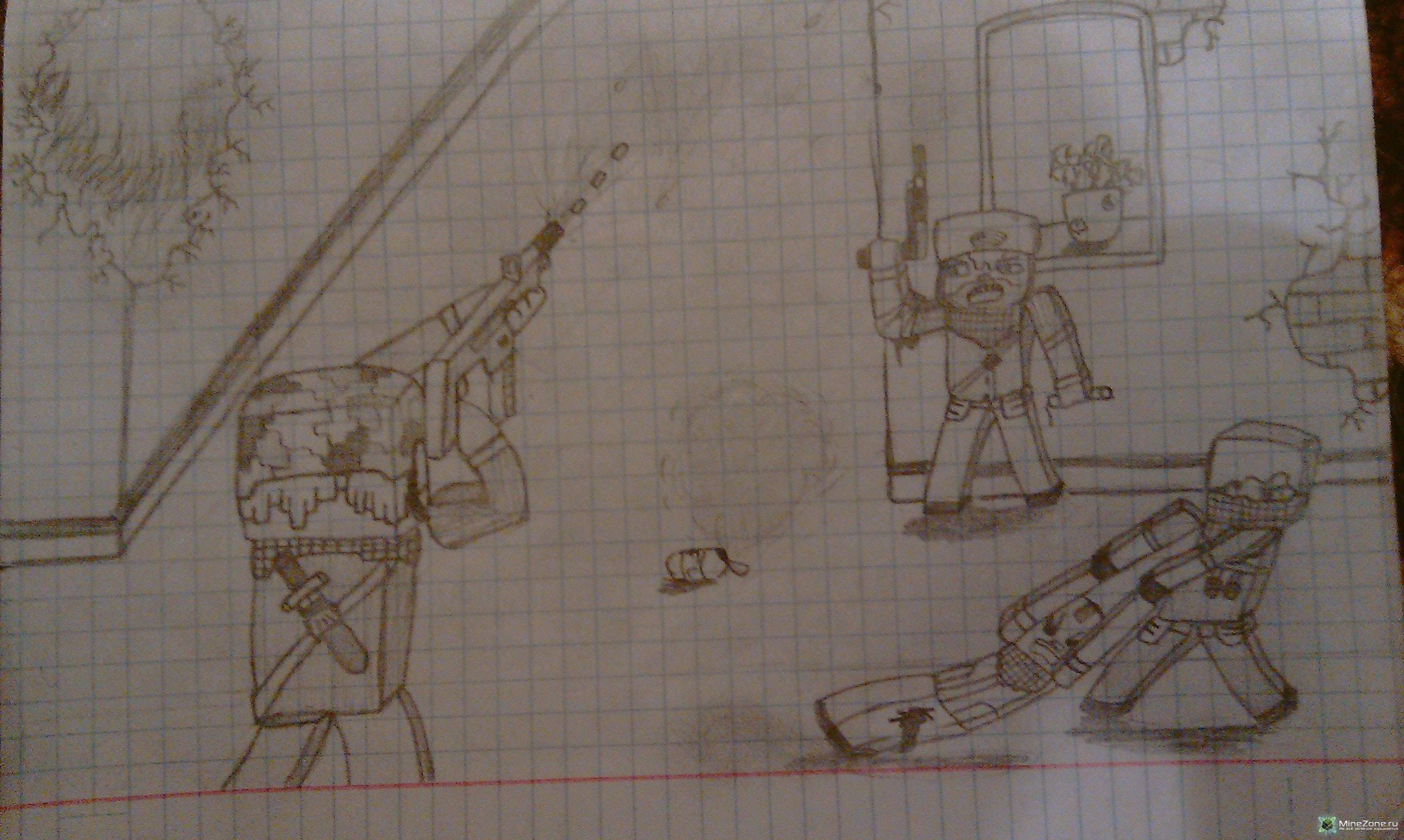 Рисунки на тему minecraft by kivvi159 3 часть