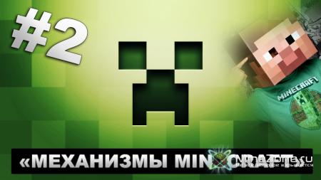 Механизм в Minecraft - Дверь из липких поршней