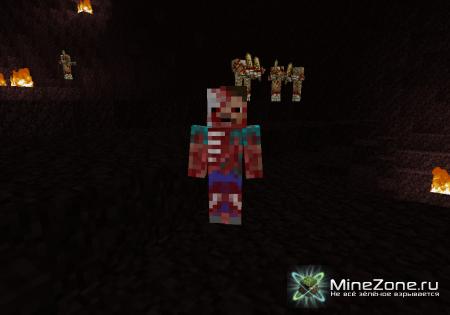 [1.4.7] Mo` Zombies! - 13 новых зомби + Плащ Зомби-Крипера!