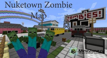 Выжить среди зомби! Nuketown Zombie Map