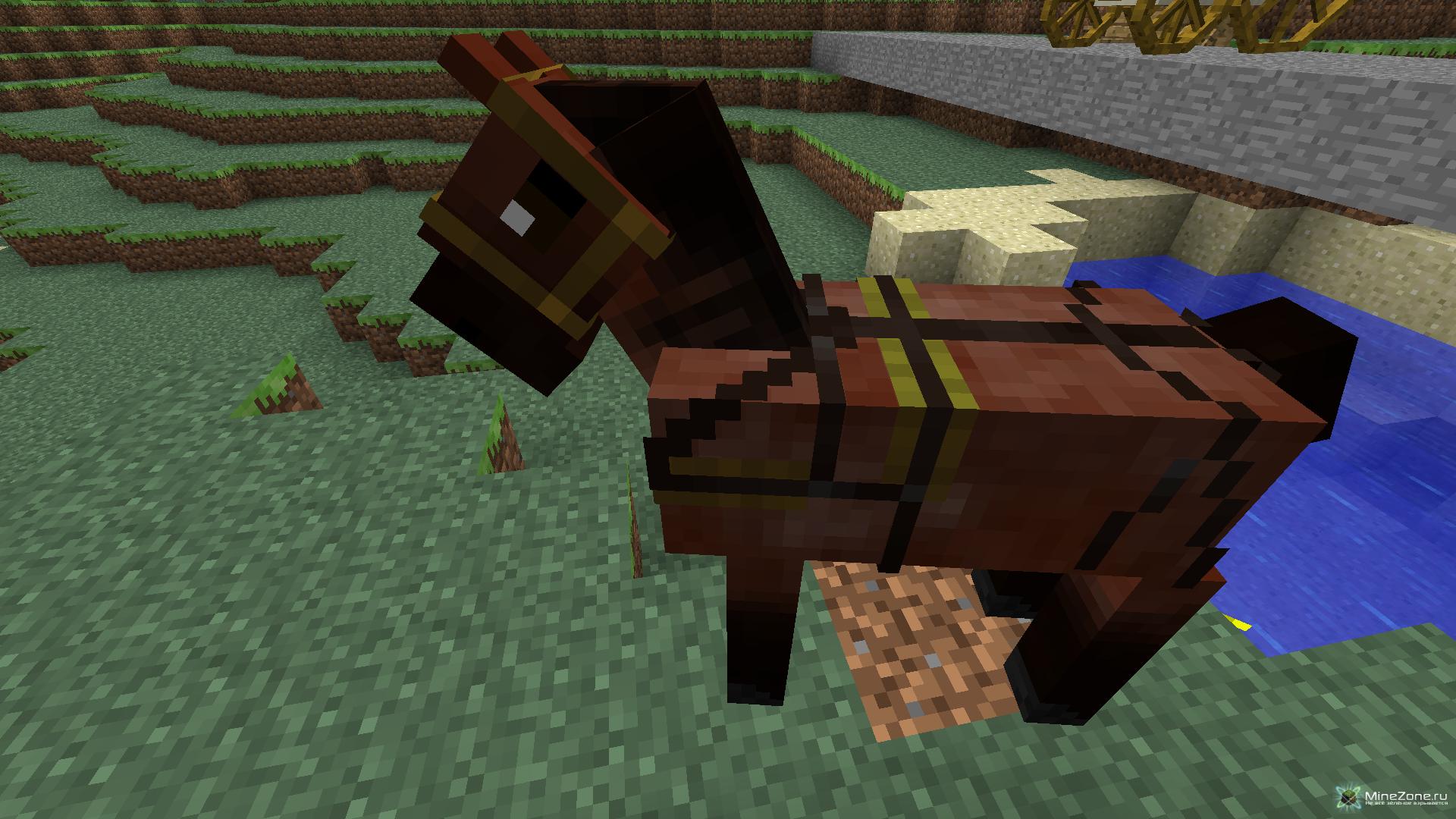 Как найти седло на лошадь в майнкрафте креатив