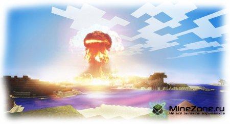 Иллюзия взрыва в мире minecraft -Cinema 4D