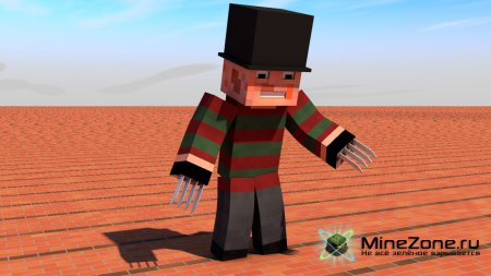 Minecraft персонаж - Freddy Krueger для Cinema 4D