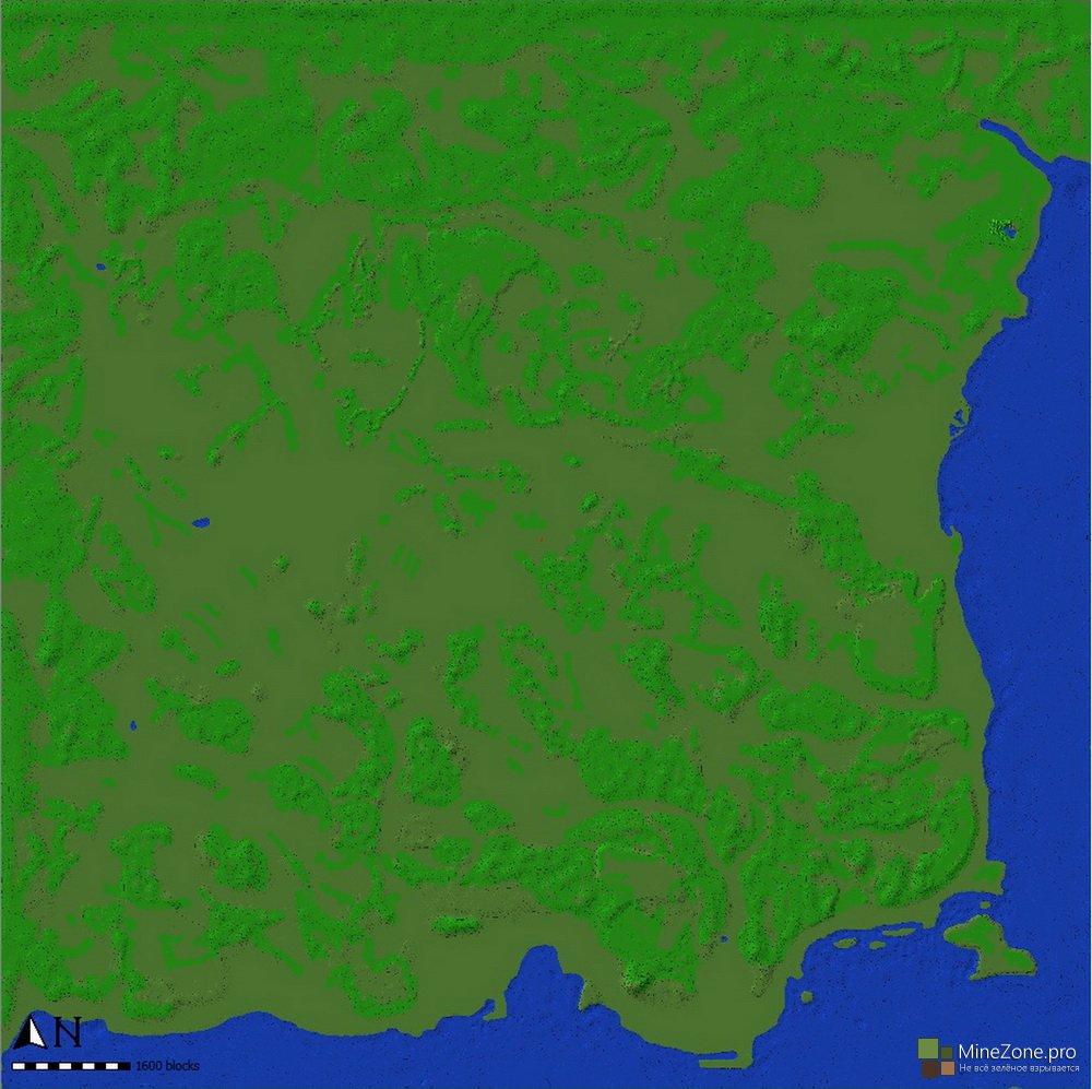 Карта Дейзи в Майнкрафт