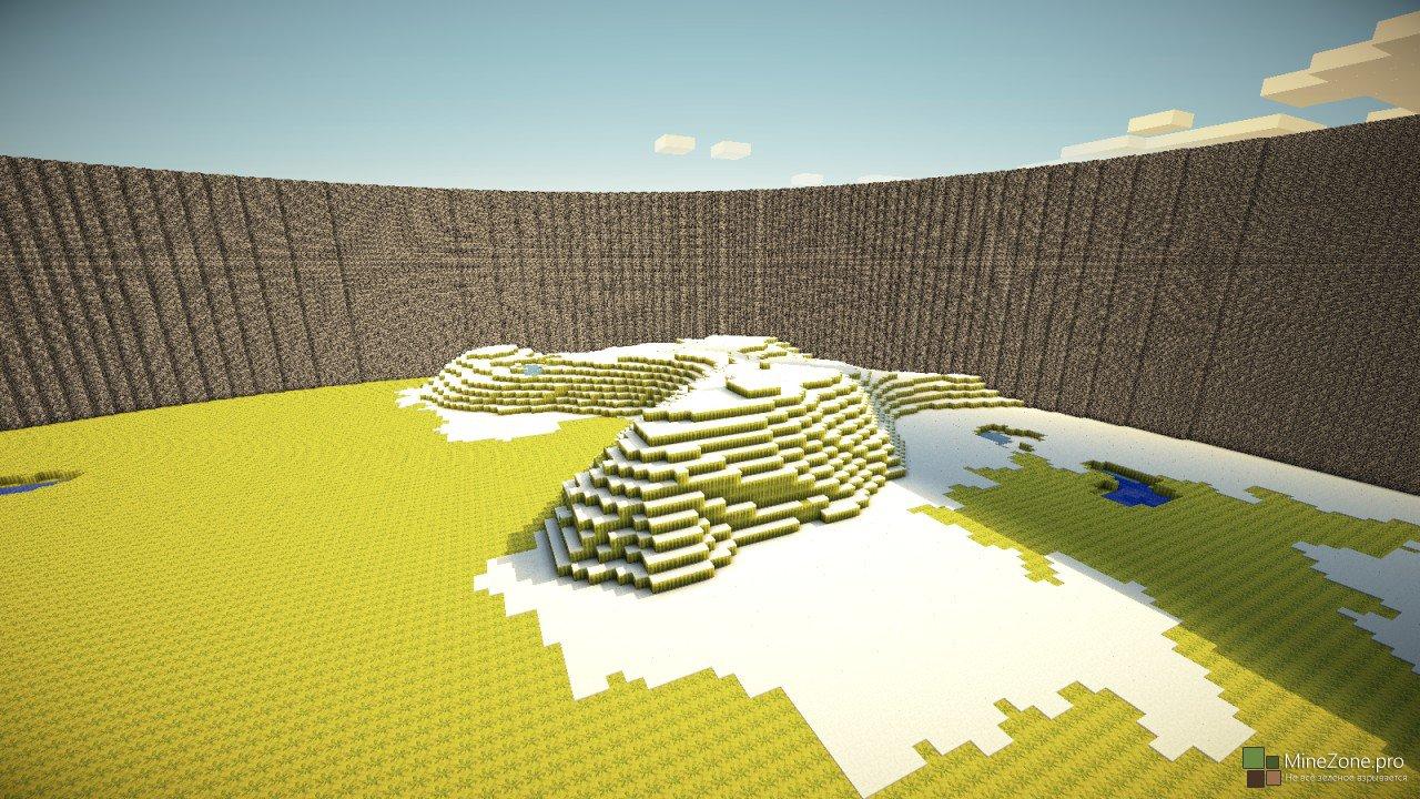 Карта Майнкрафт выживание на острове 1.10.2