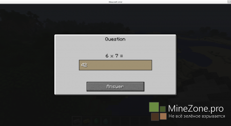 [1.6.4/1.6.2][Forge] Minecraft Student - Math Question And Answer Mod