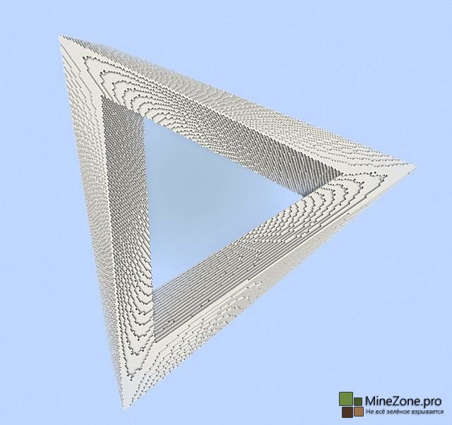 Penrose Triangle - Impossible Optical illusion