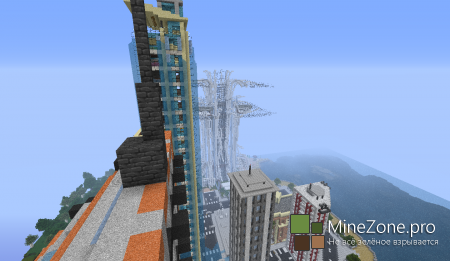 """Карта """"Божественный небоскреб"""" для Minecraft"""