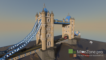 Tower Bridge. MineCraft Europe #1