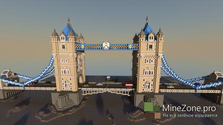 Tower Bridge. MineCraft Europe #1