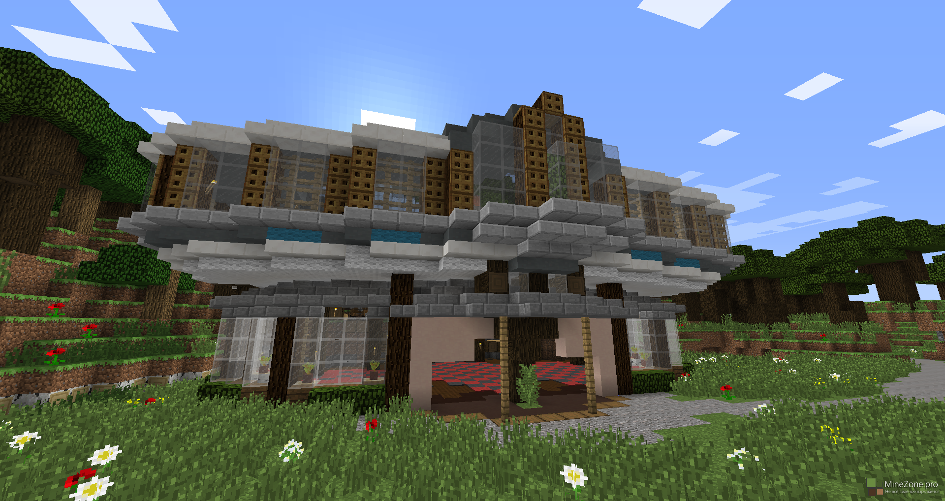 Cinematic in minecraft good house minezone Good house map