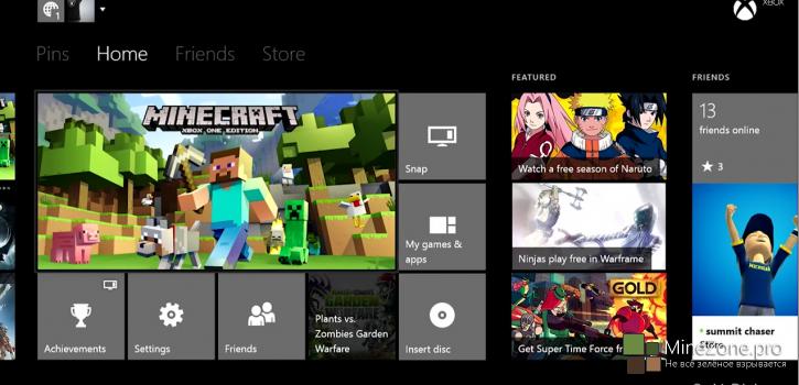 Minecraft: Xbox One Edition выпущен!