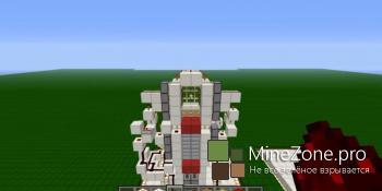 Реалистичный лифт в Minecraft