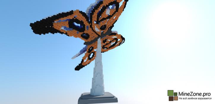 Minecraft Timelapse - Butterfly