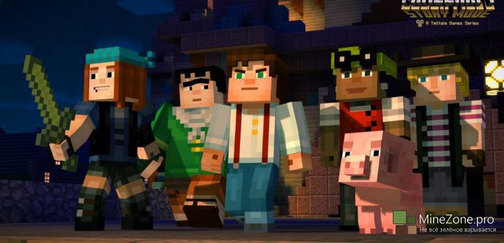 Первый эпизод Minecraft: Story Mode уже в октябре