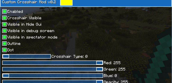 [1.9] Custom Crosshair Mod