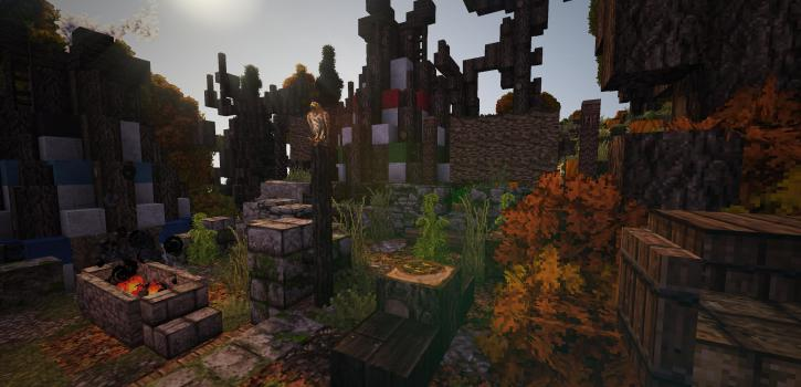 Fall's End - An Old Native American Themed Map