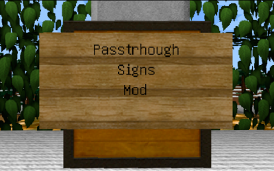 [1.10.2] Passthrough Signs Mod